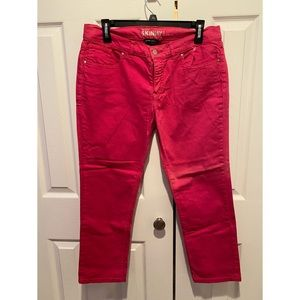 Hot Pink Lowrise Skinny Jeans